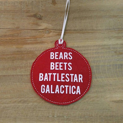 Bears Beets Battlestar Galatica Ornament