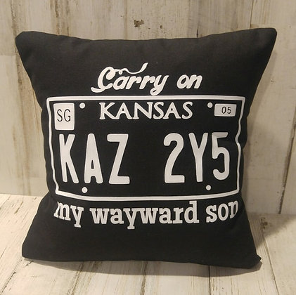 Carry On My Wayward Son Small Pillow