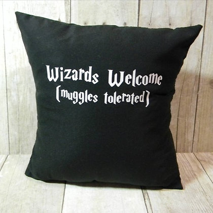 Wizards Welcome Small Pillow