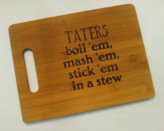 Taters Cutting Board