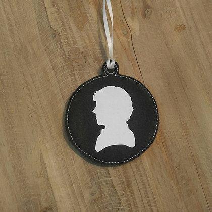 Sherlock Silhouette Ornament