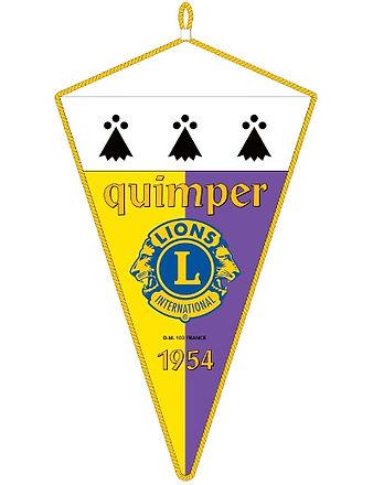 Fanion Lions Club Quimper Corentin 1954.