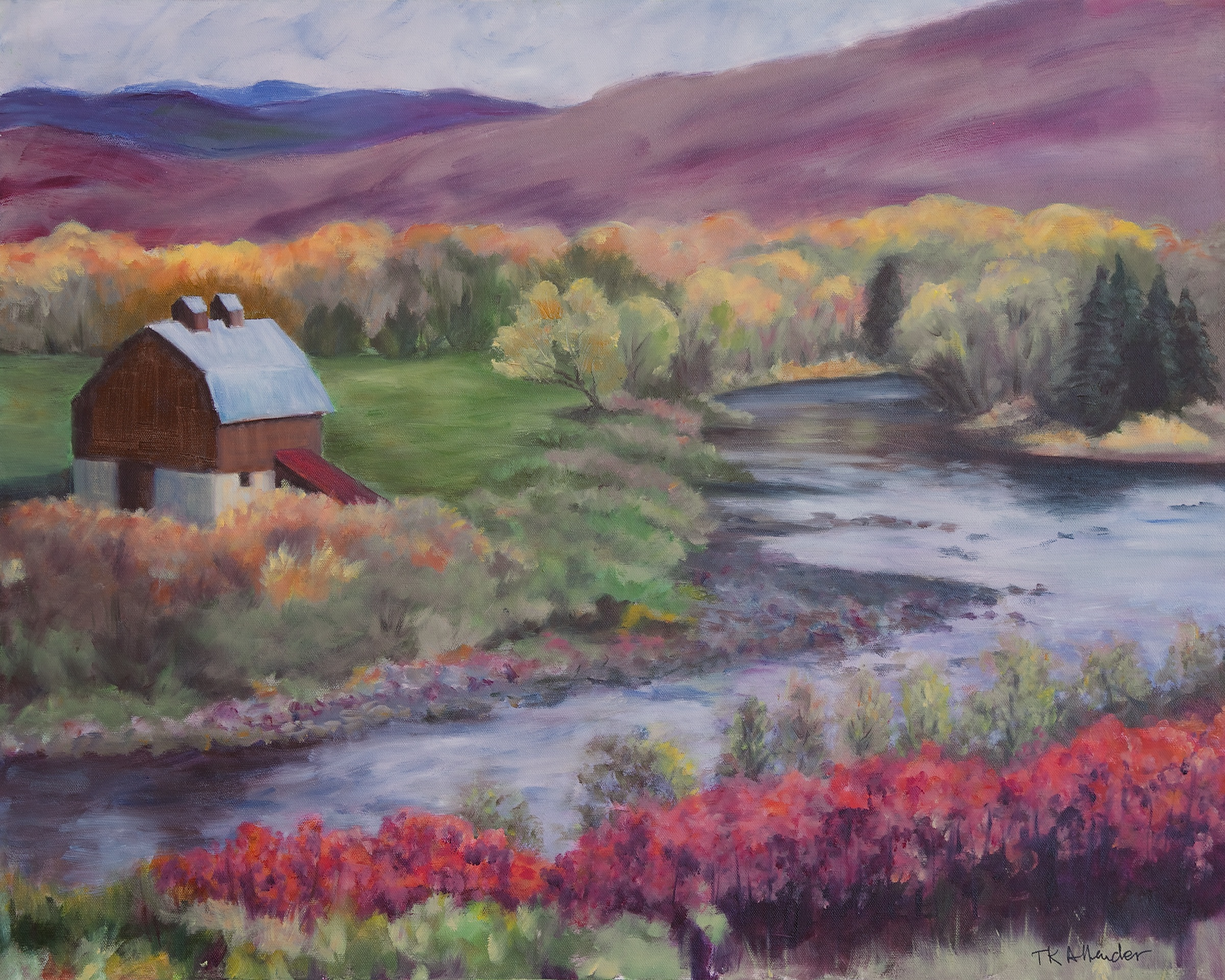 Eagle River Near Wolcott - 24 x 30