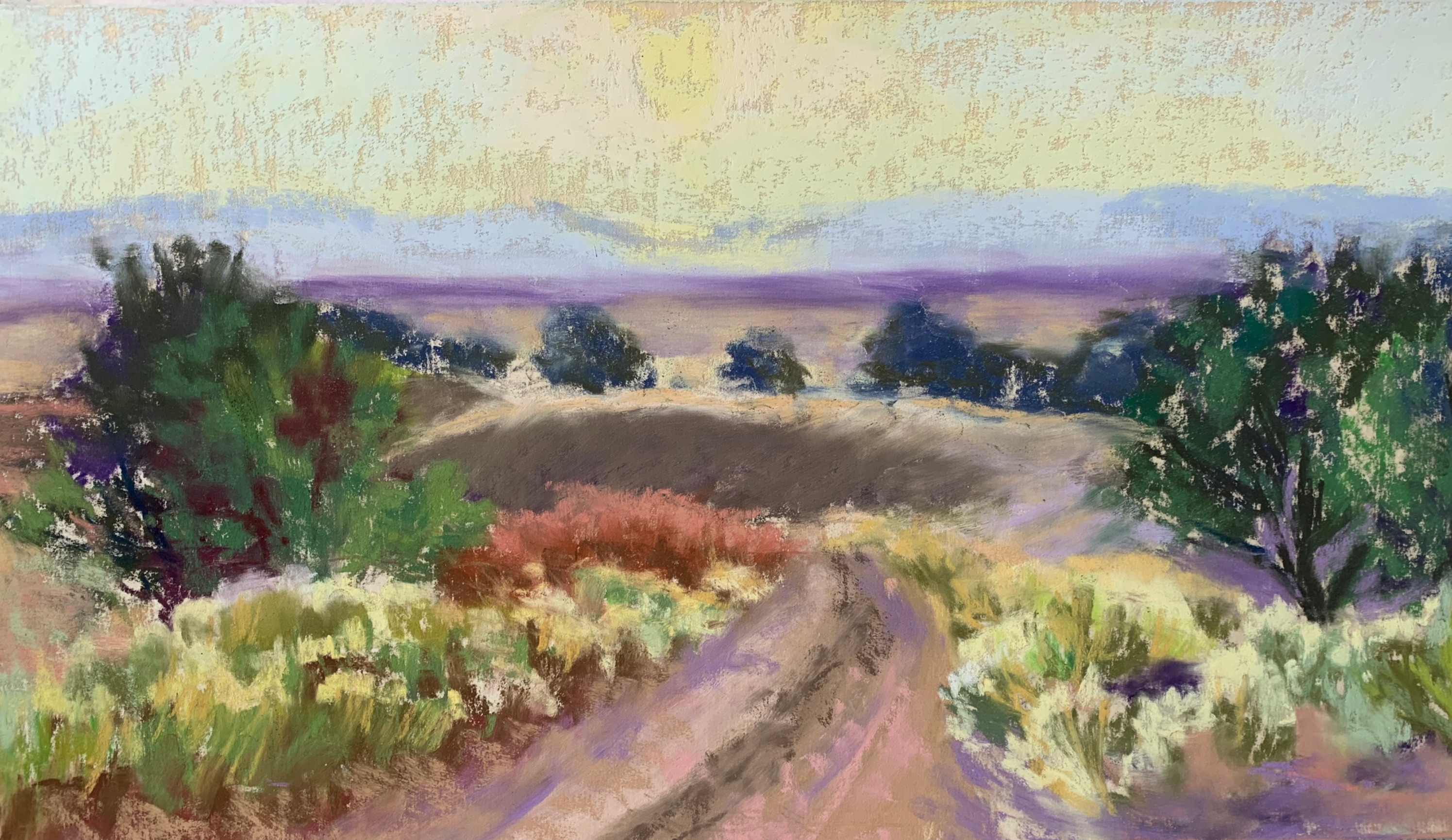 Last Light - San Luis Valley - Pastel
