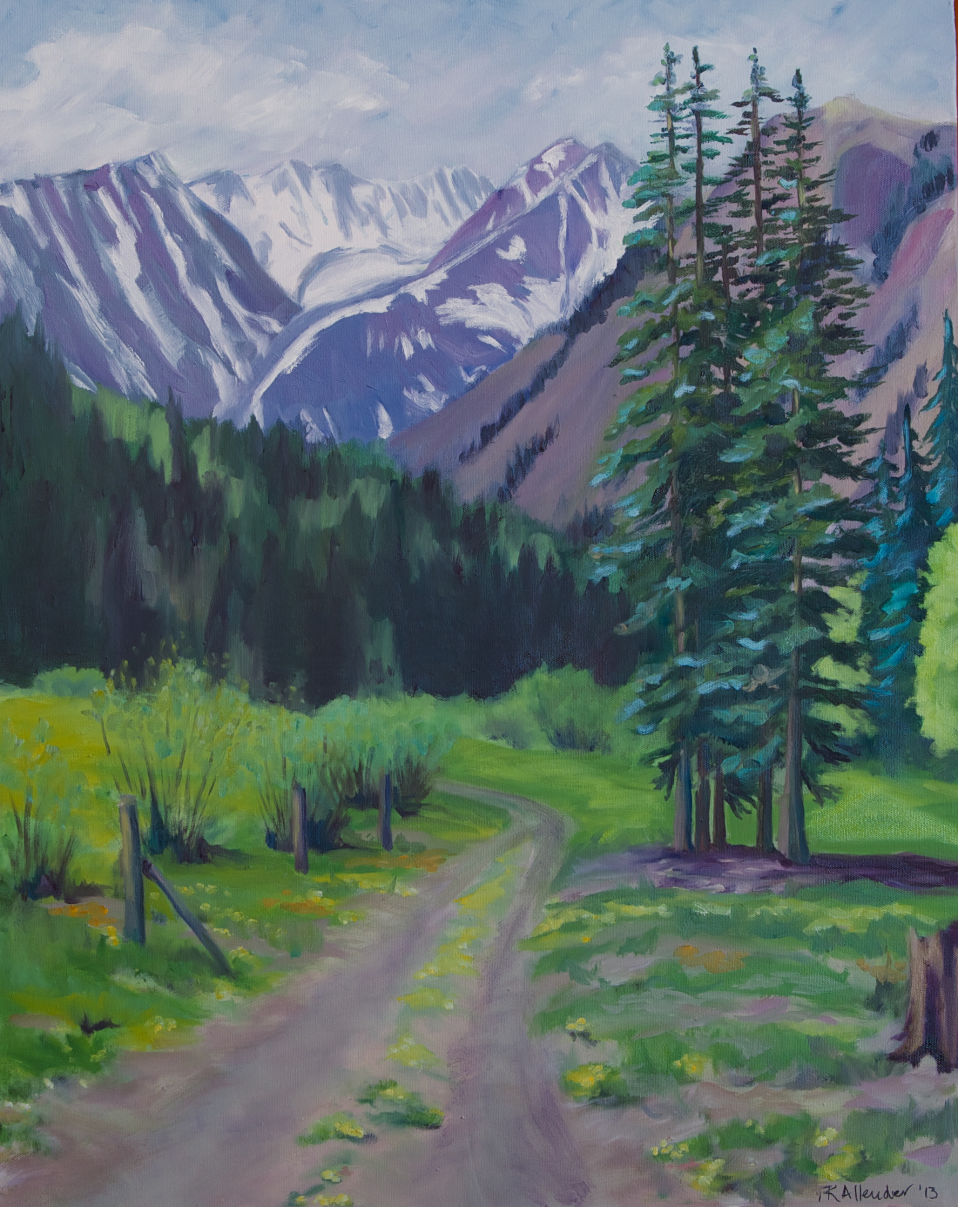 Castle Creek Road - 24 x 30