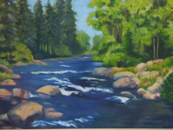 Eagle River in Eagle Vail- 18 x 24
