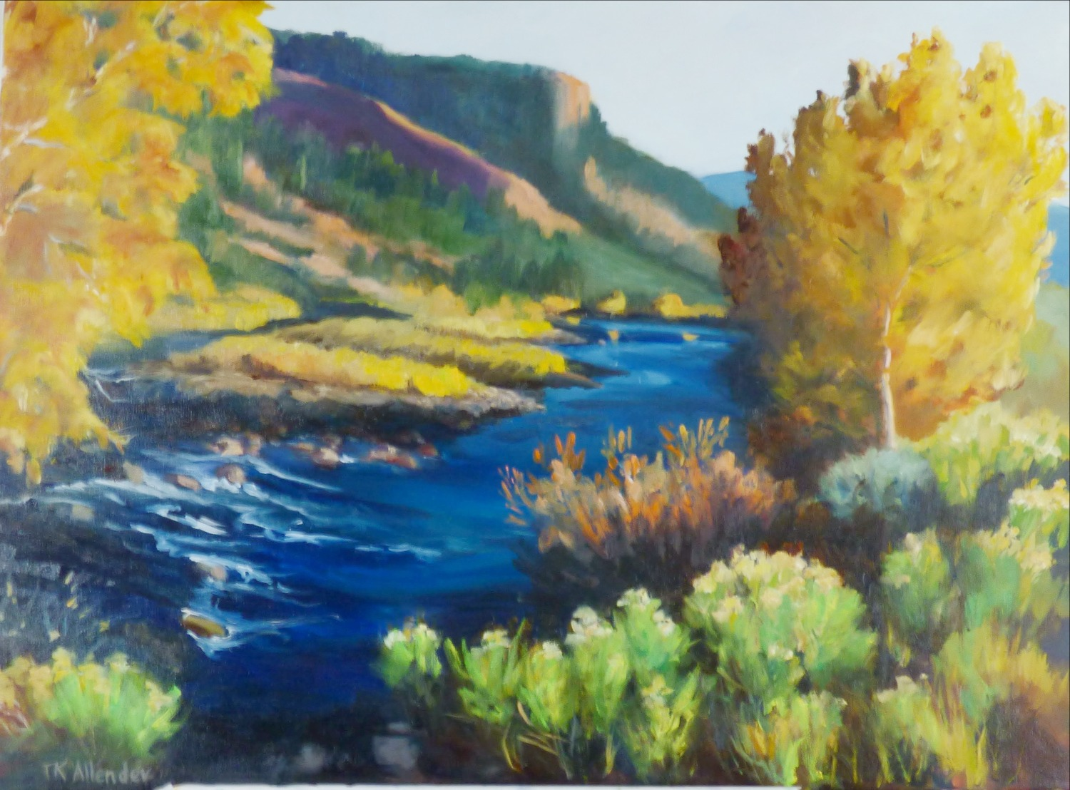 Fall in Red Canyon - 30 x 40