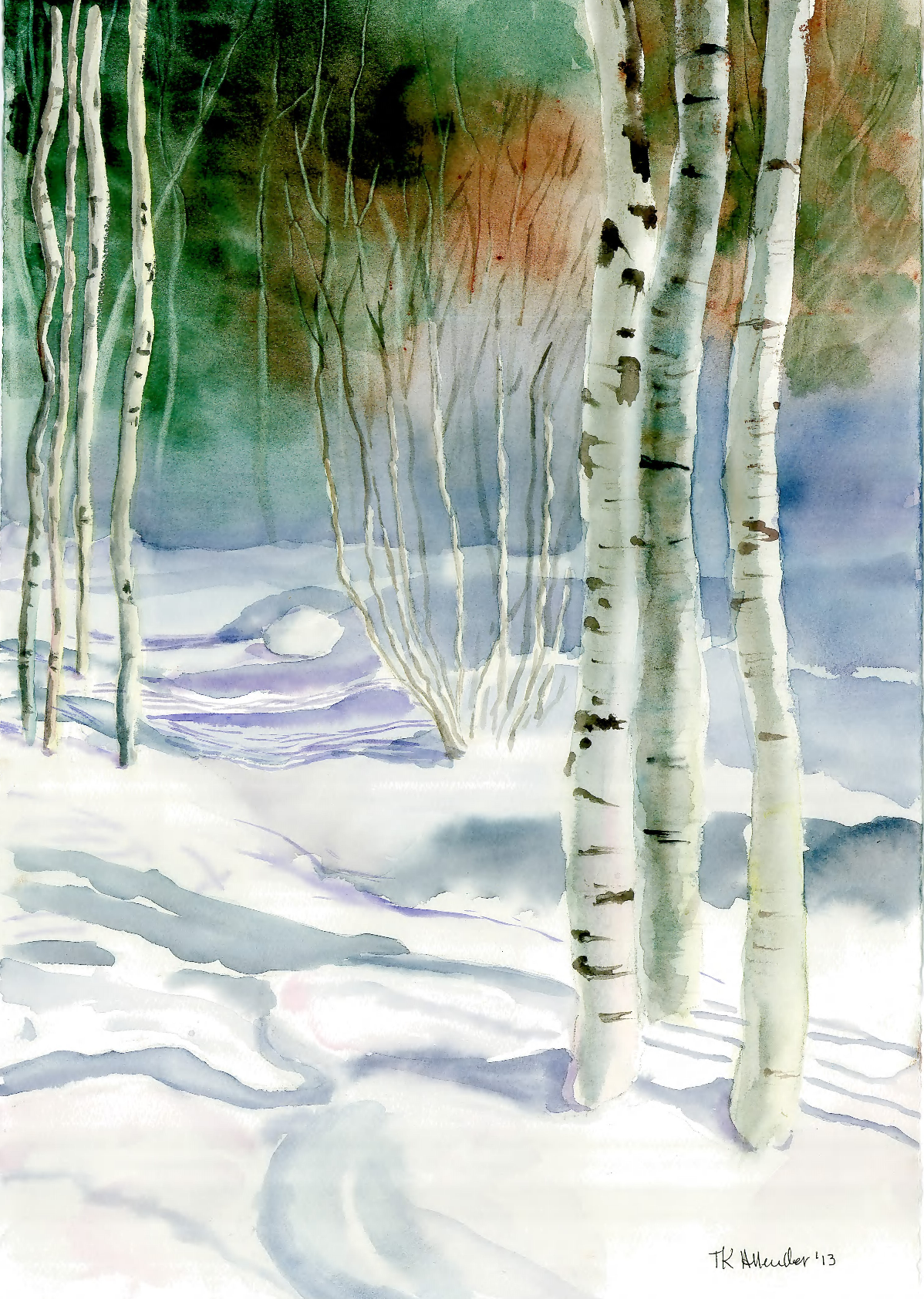 Shadows in the Snow  15 x 22