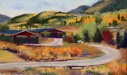 Autumn at the Stables - 9 x 15