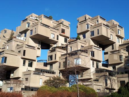 Habitat 67 suivant l'exposition universelle à Montréal