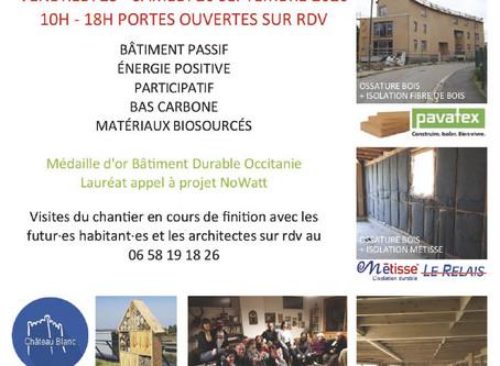 Venez découvrir un immeuble participatif, passif à énergie positive à Toulouse les 25 & 26 septembre