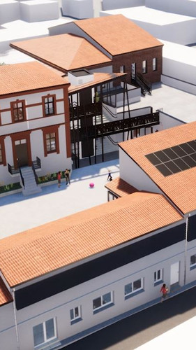 Vue 3D de l'école Montesquieu