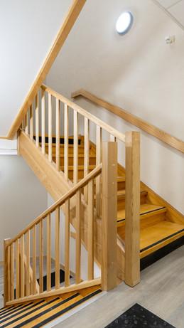 escaliers bois des parties communes