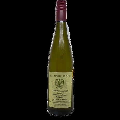 Hessische Bergstraße 2018 Ruländer Spätlese Feinherb Jäger Bergsträßer Wein