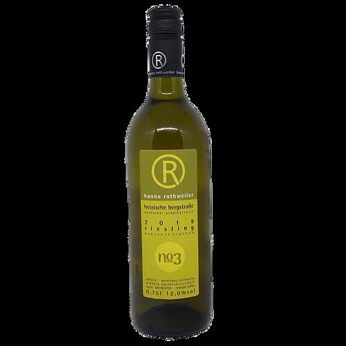 Hessische Bergstraße 2019 Riesling  trocken Hanno Rothweiler Bergsträßer Wein
