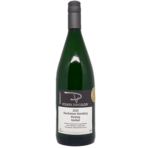 Hessische Bergstraße 2020 Riesling trocken 1L Volker Dingeldey Bergsträßer Wein
