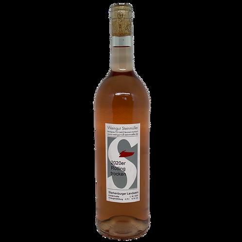 Hessische Bergstraße 2020 Rotling trocken Weingut Steinmüller Bergsträßer Wein