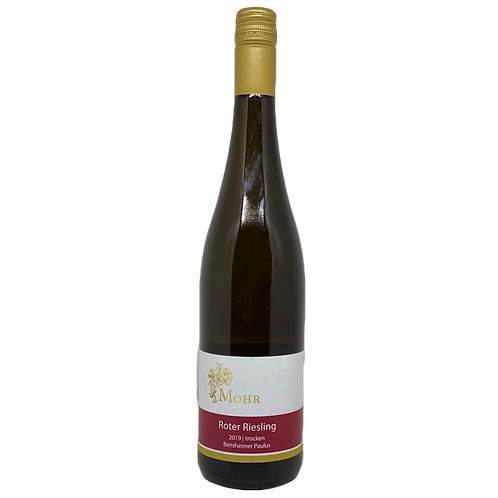 Hessische Bergstraße 2019 Roter Riesling Trocken Weingut Mohr Bergsträßer Wein