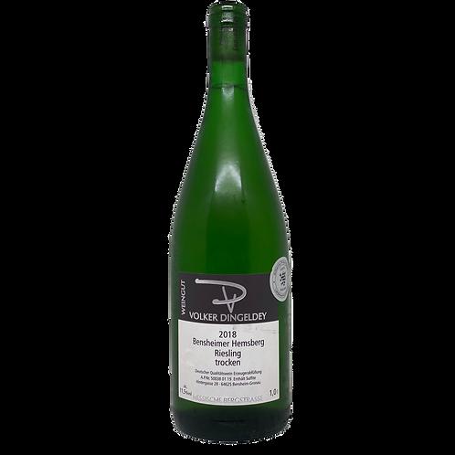 Hessische Bergstraße 2018 Riesling trocken 1L Volker Dingeldey Bergsträßer Wein