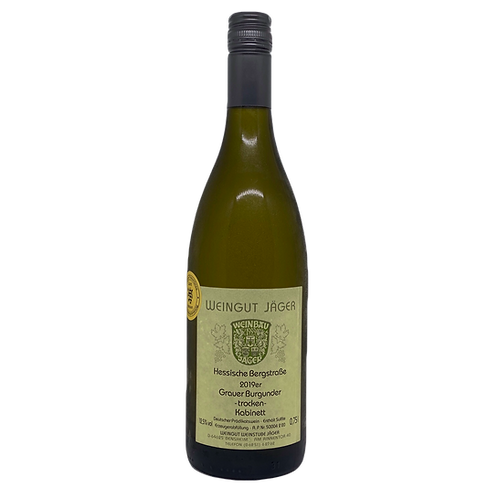Hessische Bergstraße 2019 Grauer Burgunder Kabinett Jäger Bergsträßer Wein