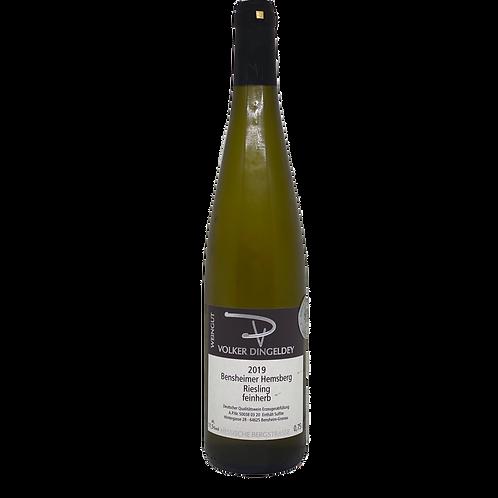 Hessische Bergstraße 2019 Riesling Feinherb Volker Dingeldey Bergsträßer Wein