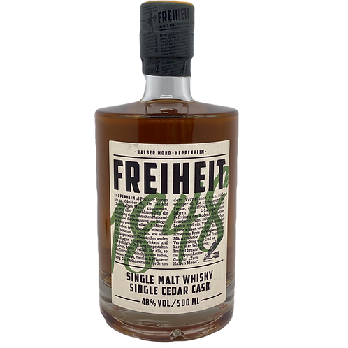 Whisky Freiheit 1848 Single Malt Zedern Cask Heppenheim Bergsträßer Whisky