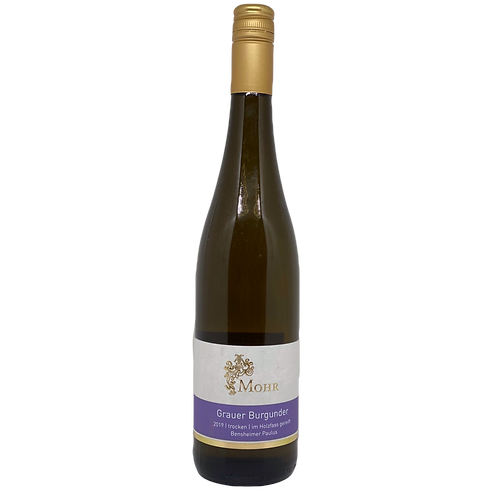 Hessische Bergstraße 2019 Grauer Burgunder trocken Weingut Mohr Bergsträßer Wein