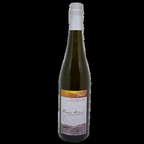 Hessische Bergstraße 2018 weißer Riesling Süß Weingut Kühnert Bergsträßer Wein