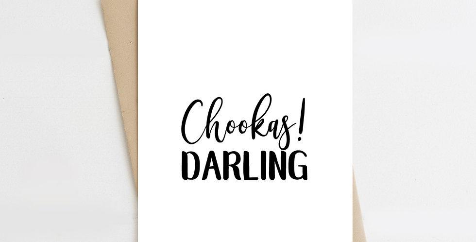 Chookas! Darling, Greeting Card