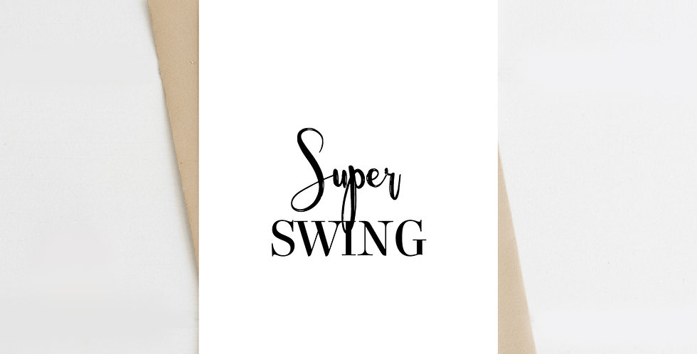 Super Swing, Greeting Card