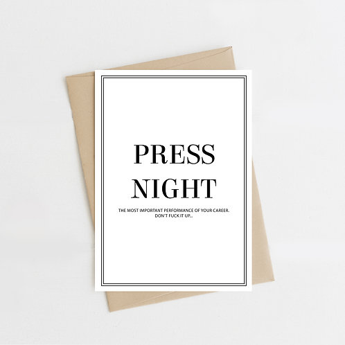 Press Night Explicit Greeting Card