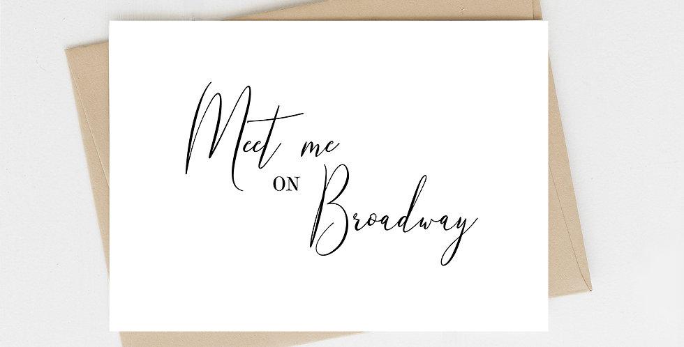 Meet Me On Broadway, Greeting Card