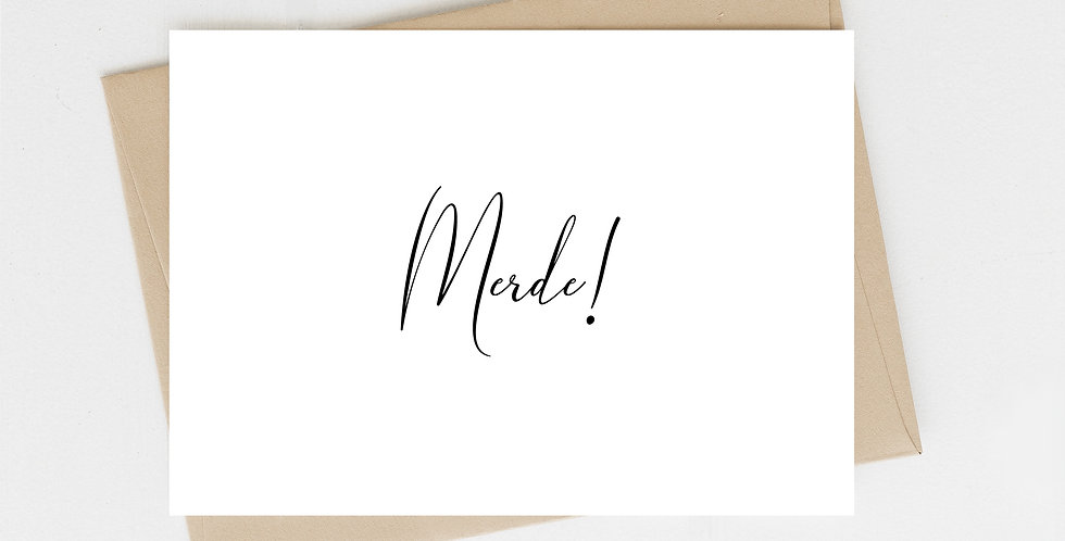 Merde! Greeting Card