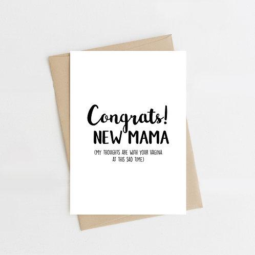 Congrats! New Mama, Greeting Card