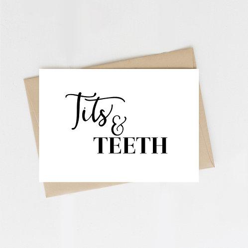 Tits & Teeth, Greeting Card