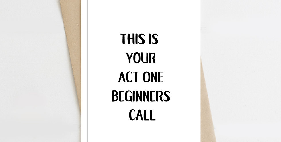 Beginners Call, Greeting Card