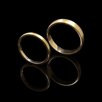 18ct Yellow Gold Matching Wedding Rings