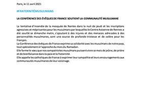Communiqué des évêques de France
