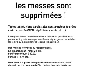 Supression des messes