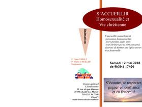 S'ACCUEILLIR MUTUELLEMENT Homosexualité et Vie chrétienne