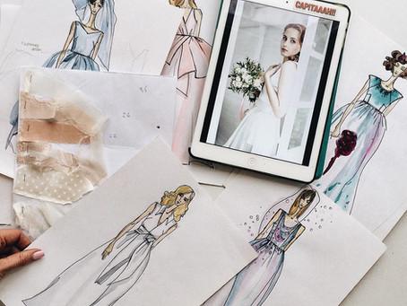 Свадебное платье на заказ из натурального шелка для красавицы-невесты Тани!