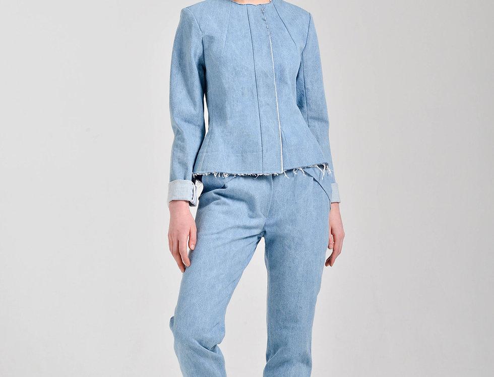 Брюки-дудочки из джинсы