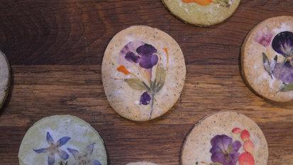 訂製手工食用花押花餅乾