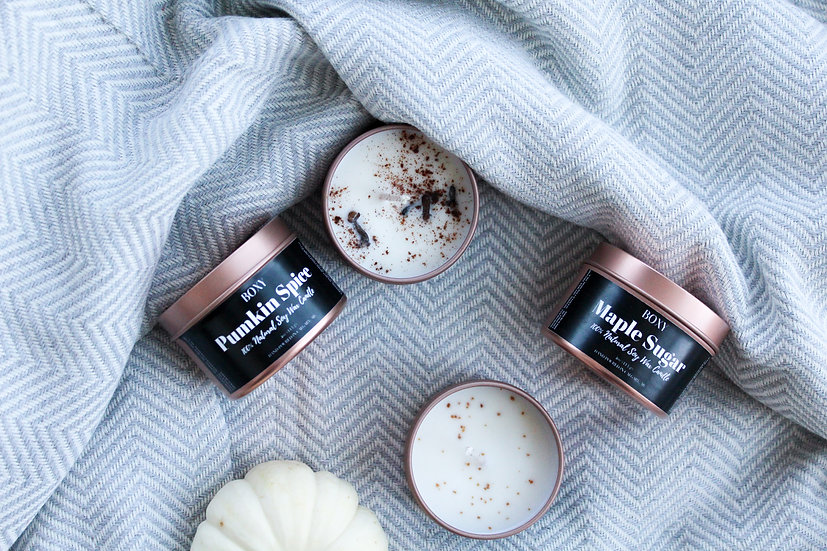 Coconut Soy Wax Candles (Fall Collection)