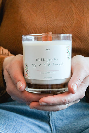 Maid Of Honour Candle - Gift Wrapped