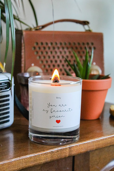 You're my favourite person (10oz jar candle)