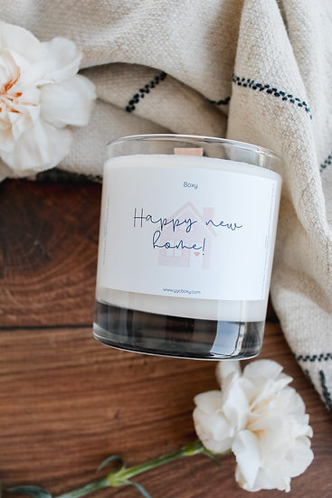Happy New Home Candle (10oz jar)