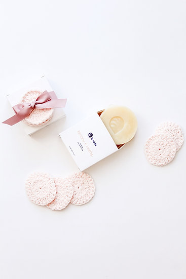 Facial Soap + Face Scrubbies Set