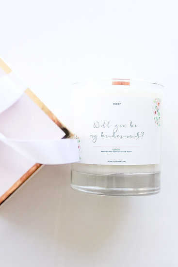 Bridesmaid Candle - Gift Wrapped