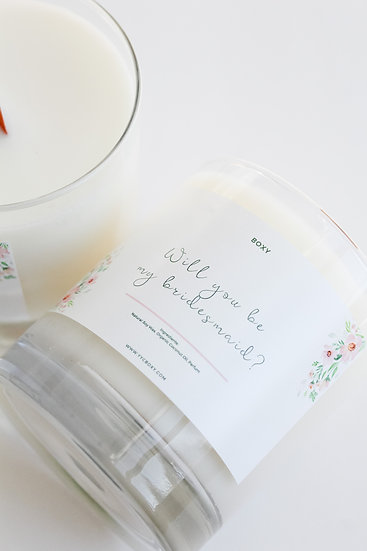 Will you be my Bridesmaid Candle (10oz jar)